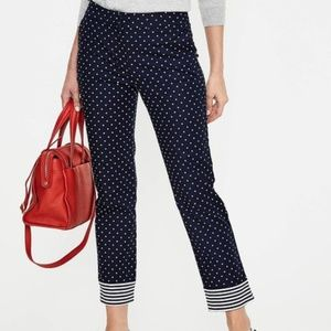 Boden Polka Dot 7/8 Crop Trousers